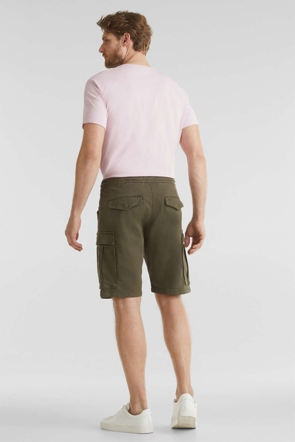 Cargo shorts with organic cotton, KHAKI GREEN, detail image number 3