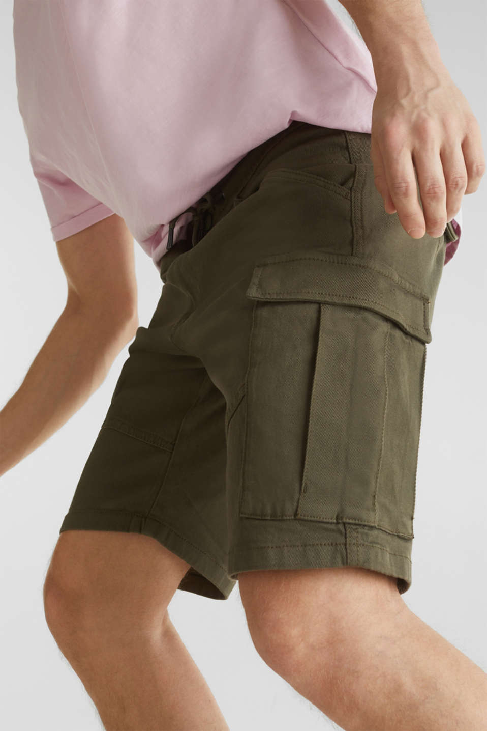 Cargo shorts with organic cotton, KHAKI GREEN, detail image number 5
