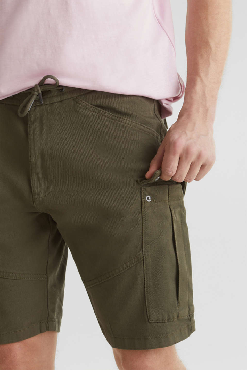 Cargo shorts with organic cotton, KHAKI GREEN, detail image number 2