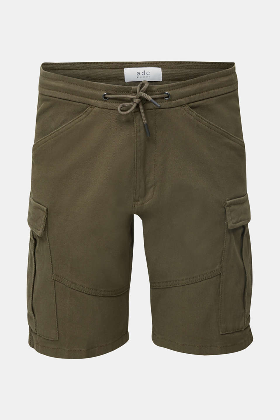 Cargo shorts with organic cotton, KHAKI GREEN, detail image number 6