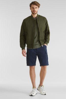 Cargo shorts with organic cotton, DARK BLUE, detail
