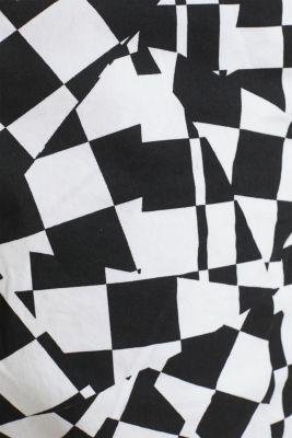 Print Bermudas in 100% cotton, WHITE, detail