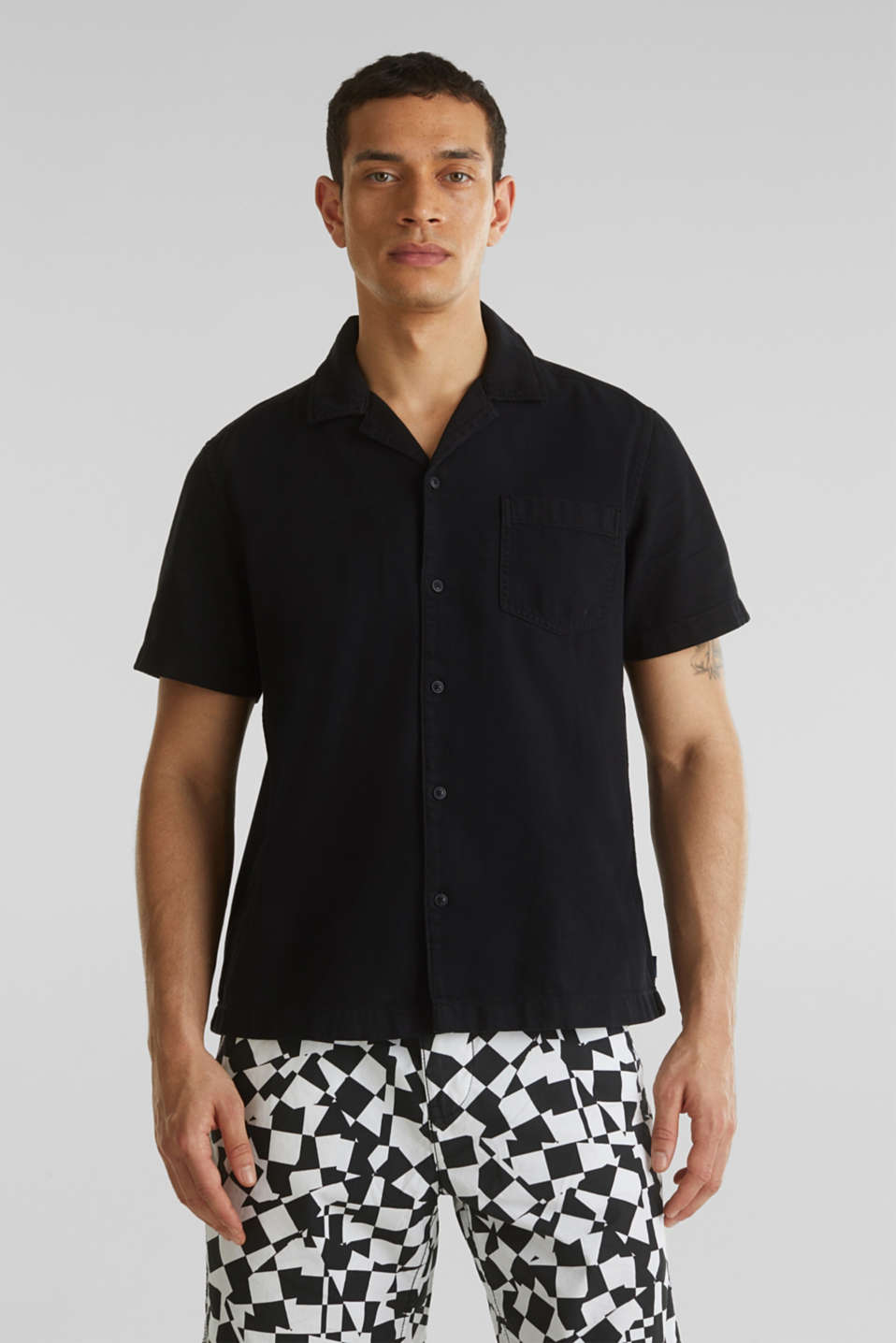edc - Short sleeve shirt, 100% cotton
