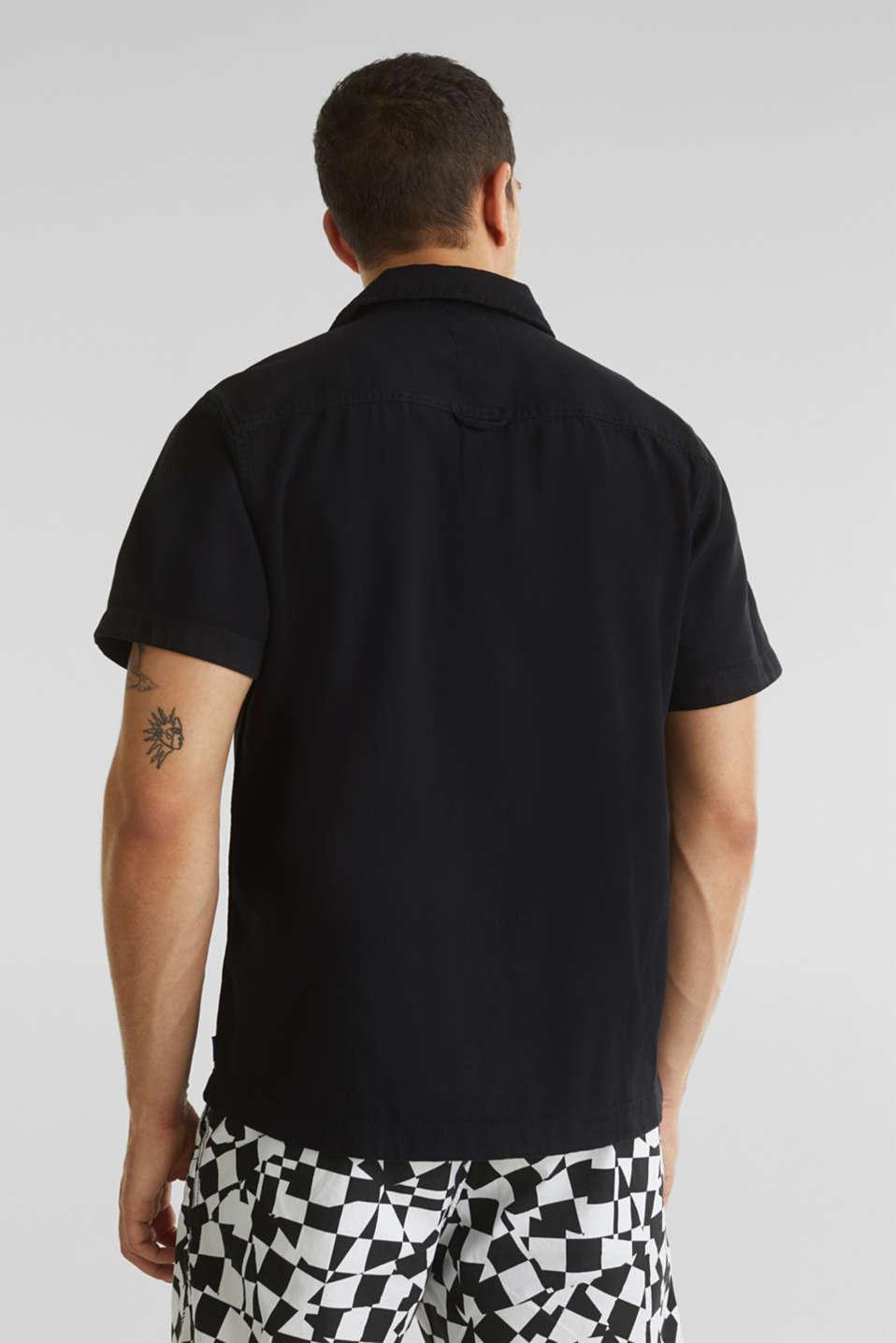Short sleeve shirt, 100% cotton, BLACK 2, detail image number 3