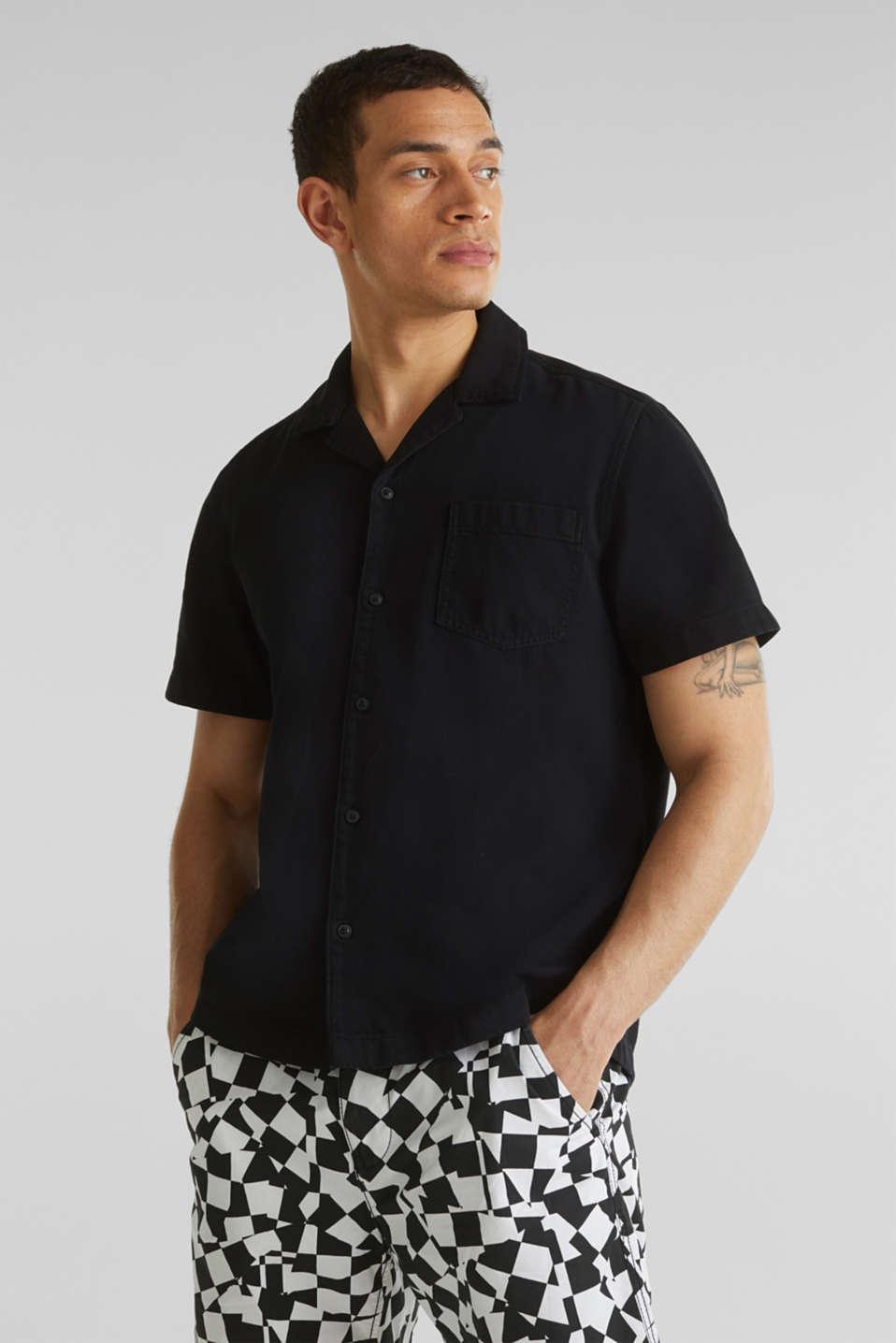 Short sleeve shirt, 100% cotton, BLACK 2, detail image number 6