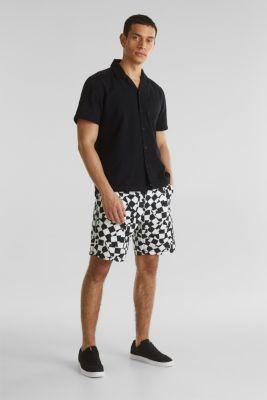 Short sleeve shirt, 100% cotton, BLACK 2, detail