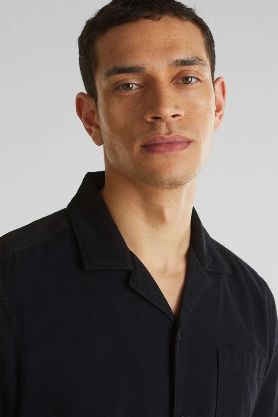 Short sleeve shirt, 100% cotton, BLACK 2, detail image number 2