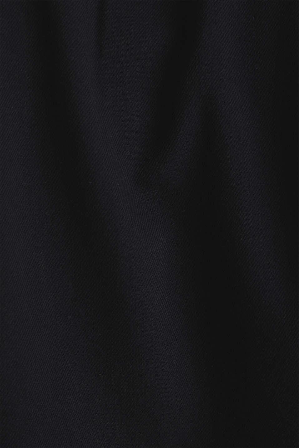 Short sleeve shirt, 100% cotton, BLACK 2, detail image number 4