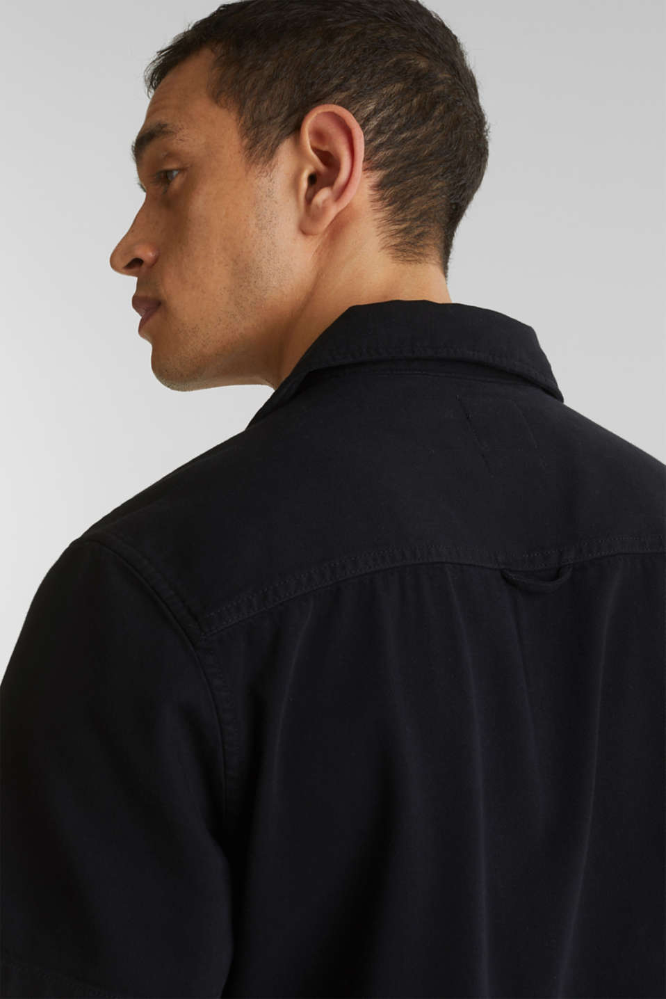 Short sleeve shirt, 100% cotton, BLACK 2, detail image number 5