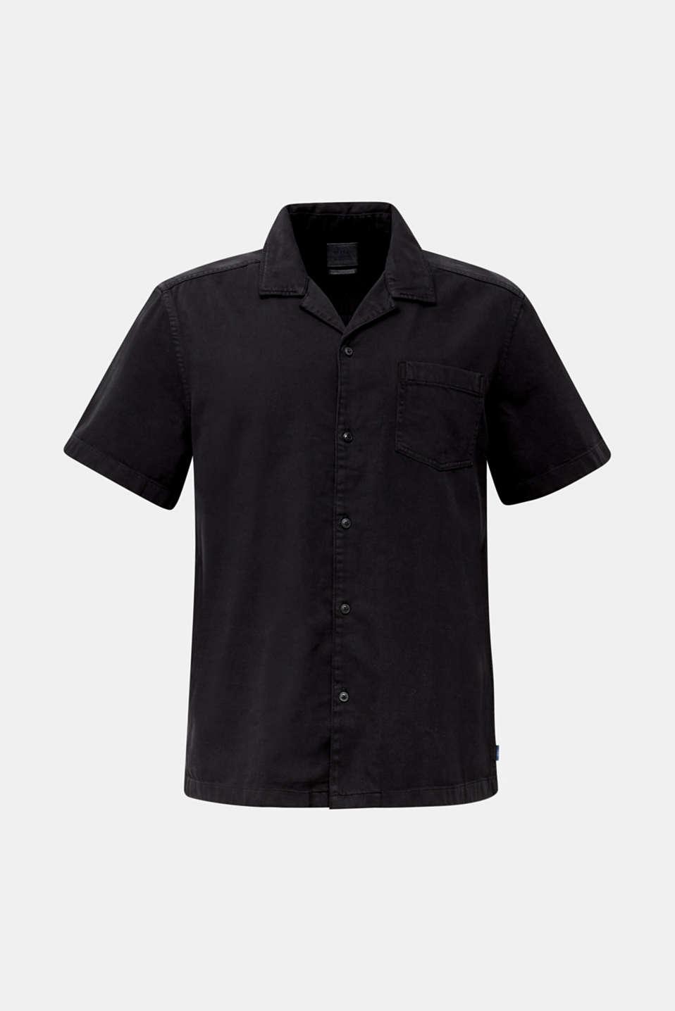 Short sleeve shirt, 100% cotton, BLACK 2, detail image number 7