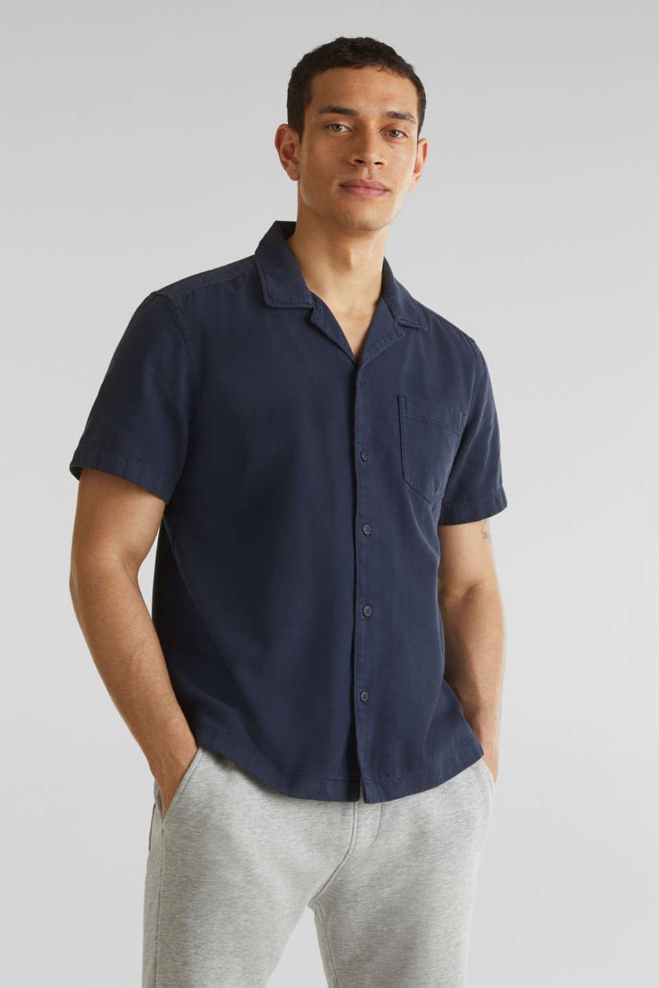 Short sleeve shirt, 100% cotton, NAVY 2, detail image number 0