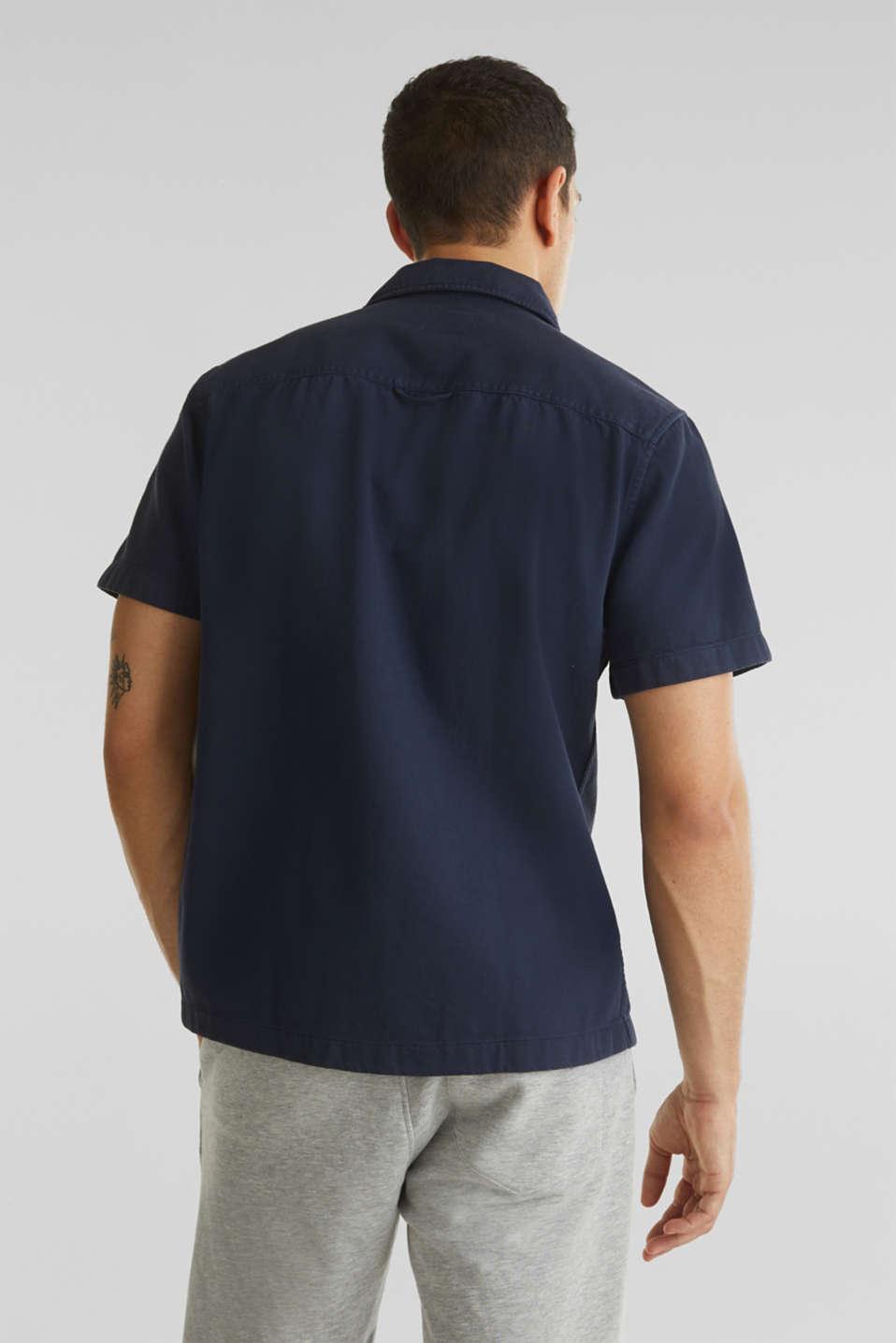 Short sleeve shirt, 100% cotton, NAVY 2, detail image number 3