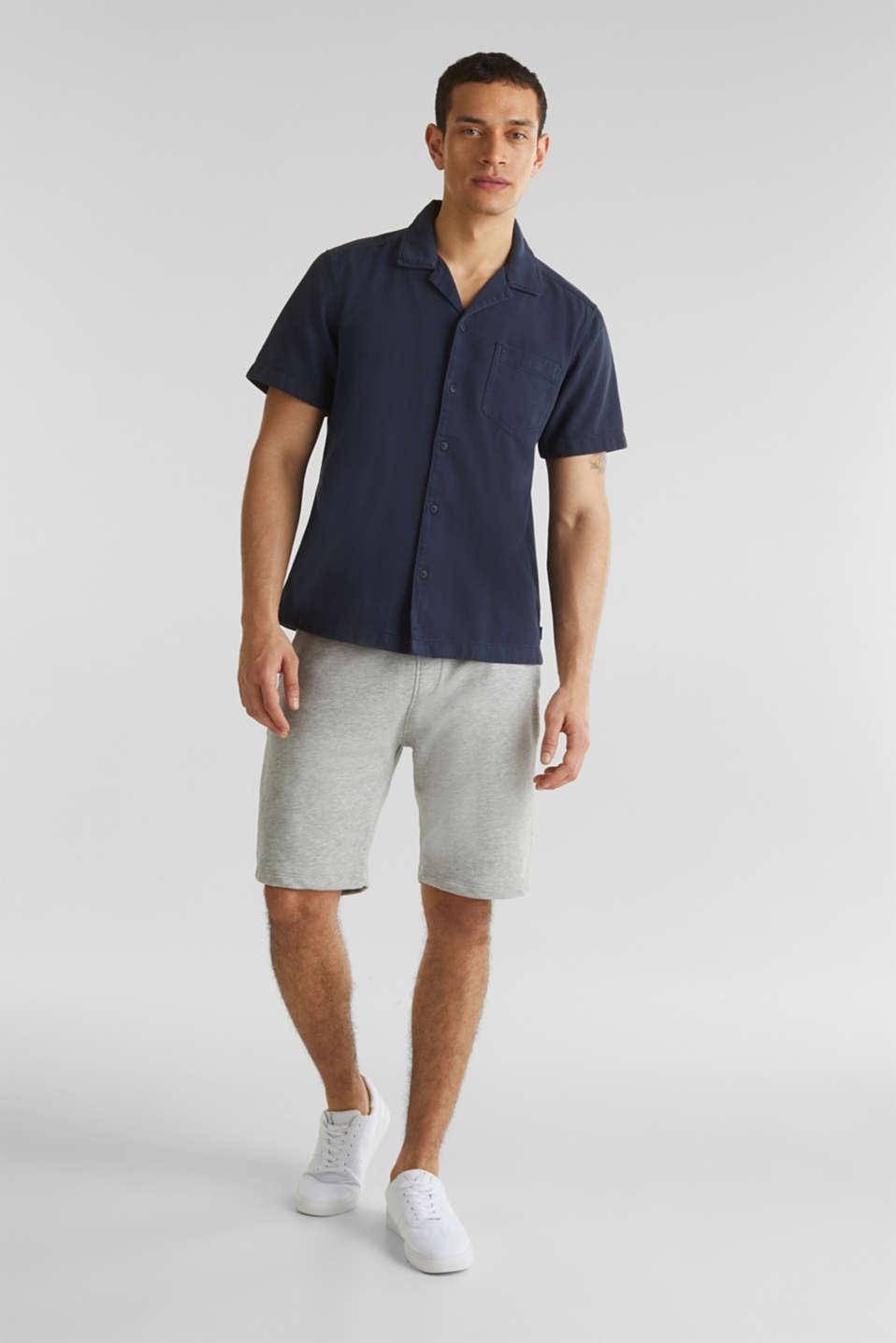 Short sleeve shirt, 100% cotton, NAVY 2, detail image number 1