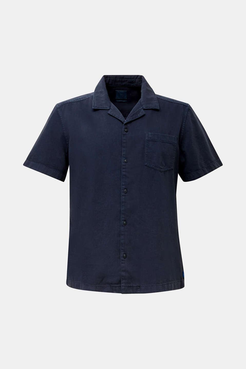 Short sleeve shirt, 100% cotton, NAVY 2, detail image number 7