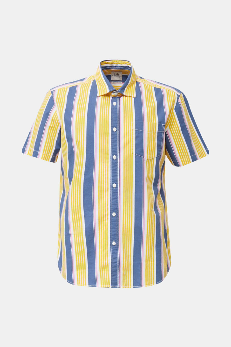 Short sleeve shirt, 100% cotton, BRIGHT YELLOW 3, detail image number 6