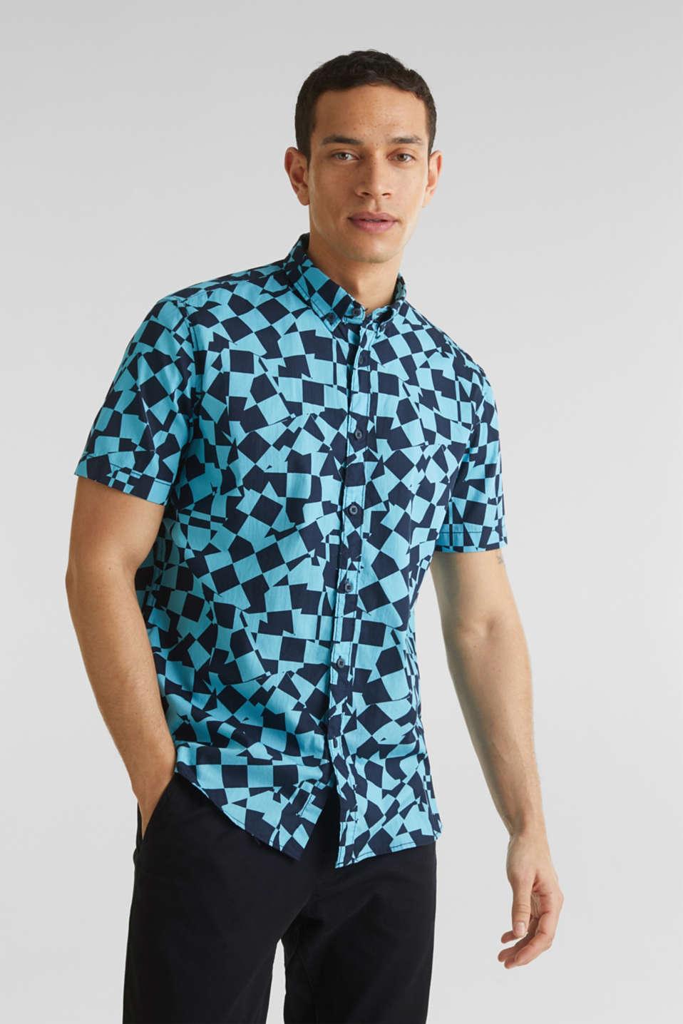 Short sleeve shirt, 100% cotton, LIGHT BLUE 4, detail image number 0