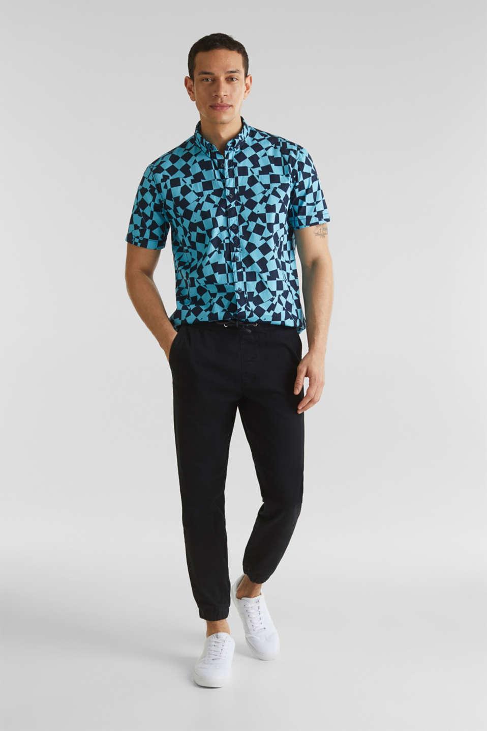 Short sleeve shirt, 100% cotton, LIGHT BLUE 4, detail image number 1