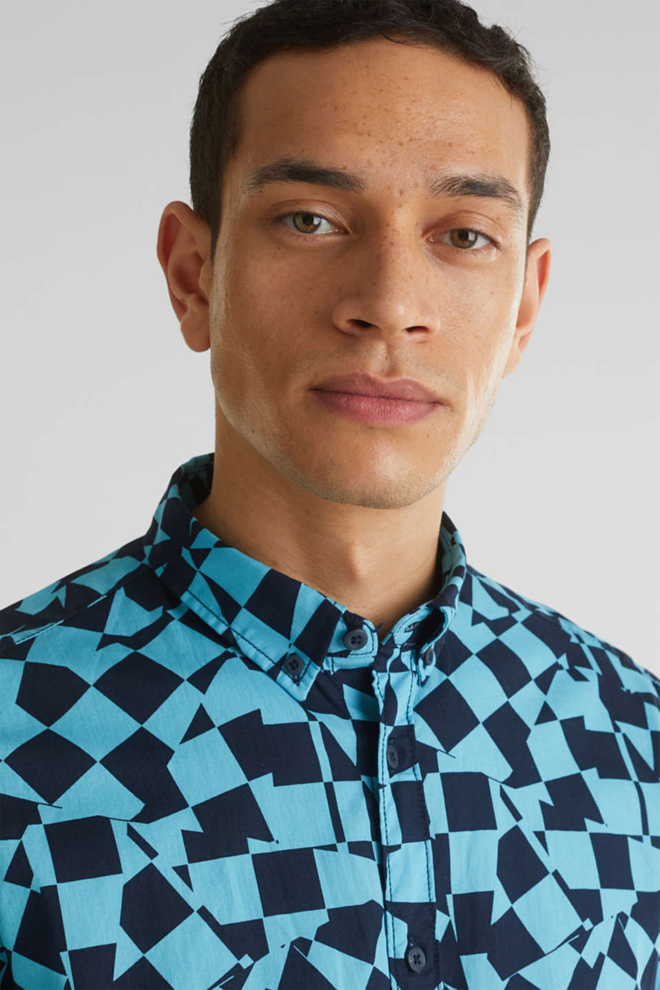 Short sleeve shirt, 100% cotton, LIGHT BLUE 4, detail image number 6