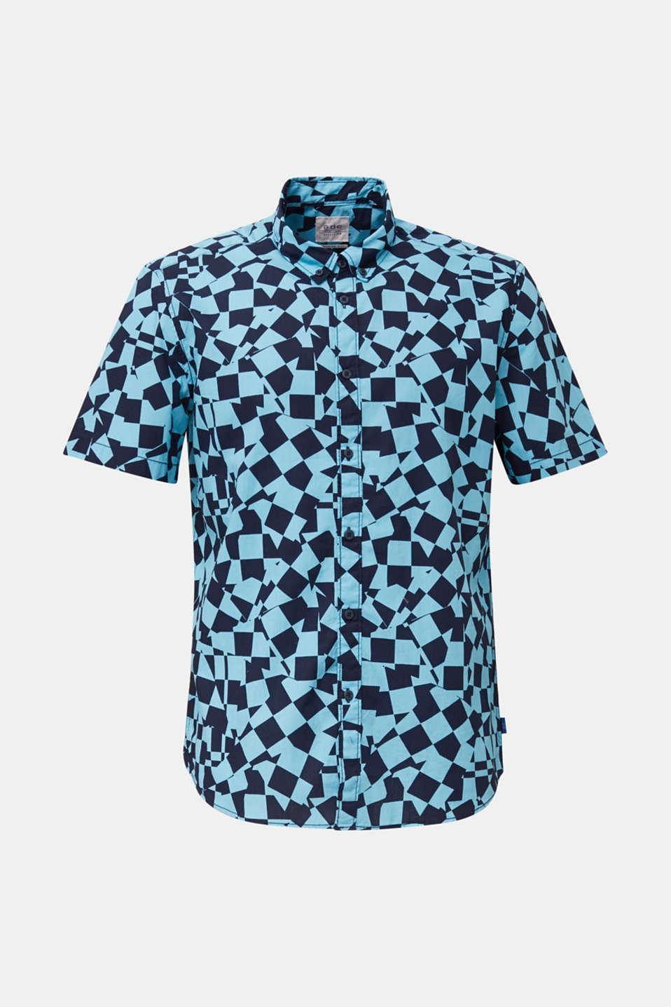 Short sleeve shirt, 100% cotton, LIGHT BLUE 4, detail image number 7
