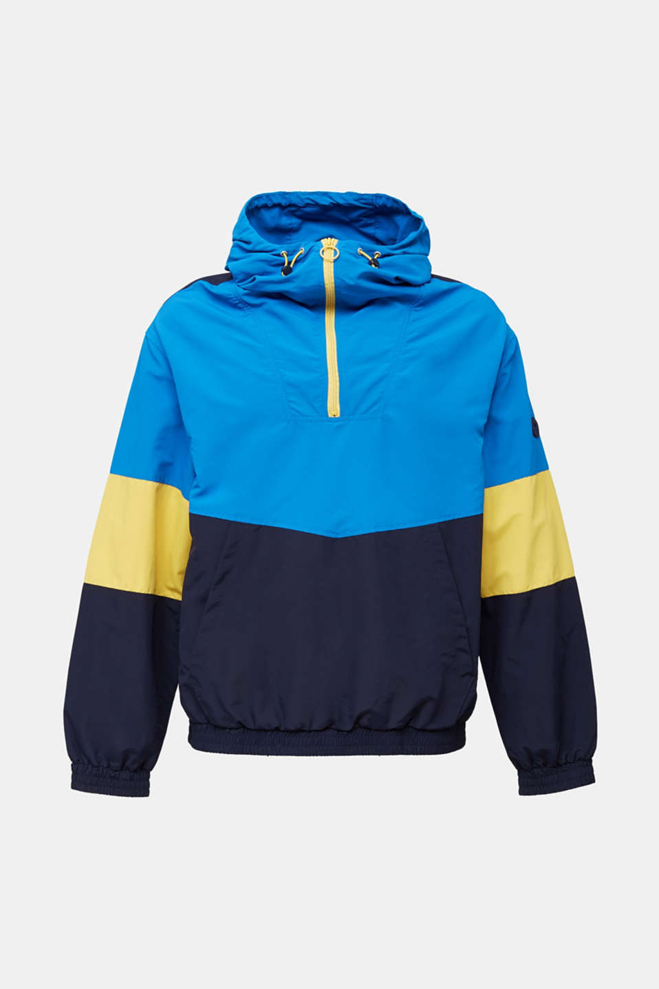 Nylon hoodie with colour blocking, DARK BLUE 2, detail image number 5