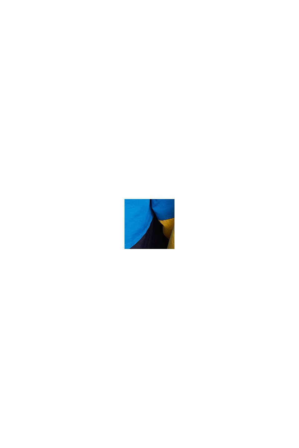 Felpa con cappuccio in nylon a blocchi di colore, DARK BLUE, swatch
