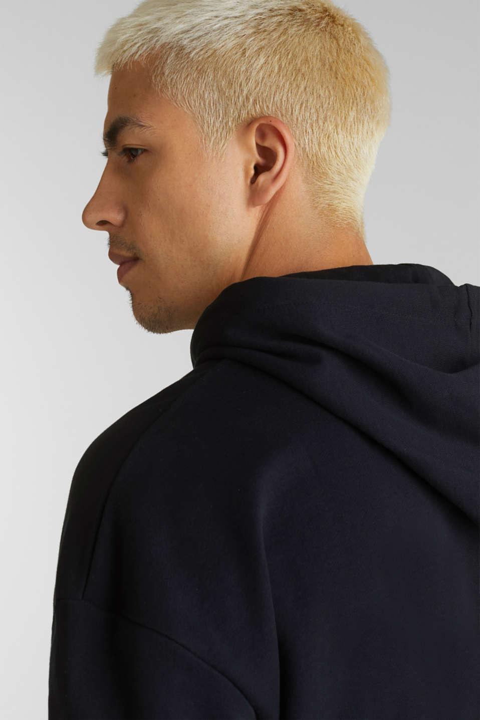 Short sleeve hoodie in 100% cotton, BLACK, detail image number 2