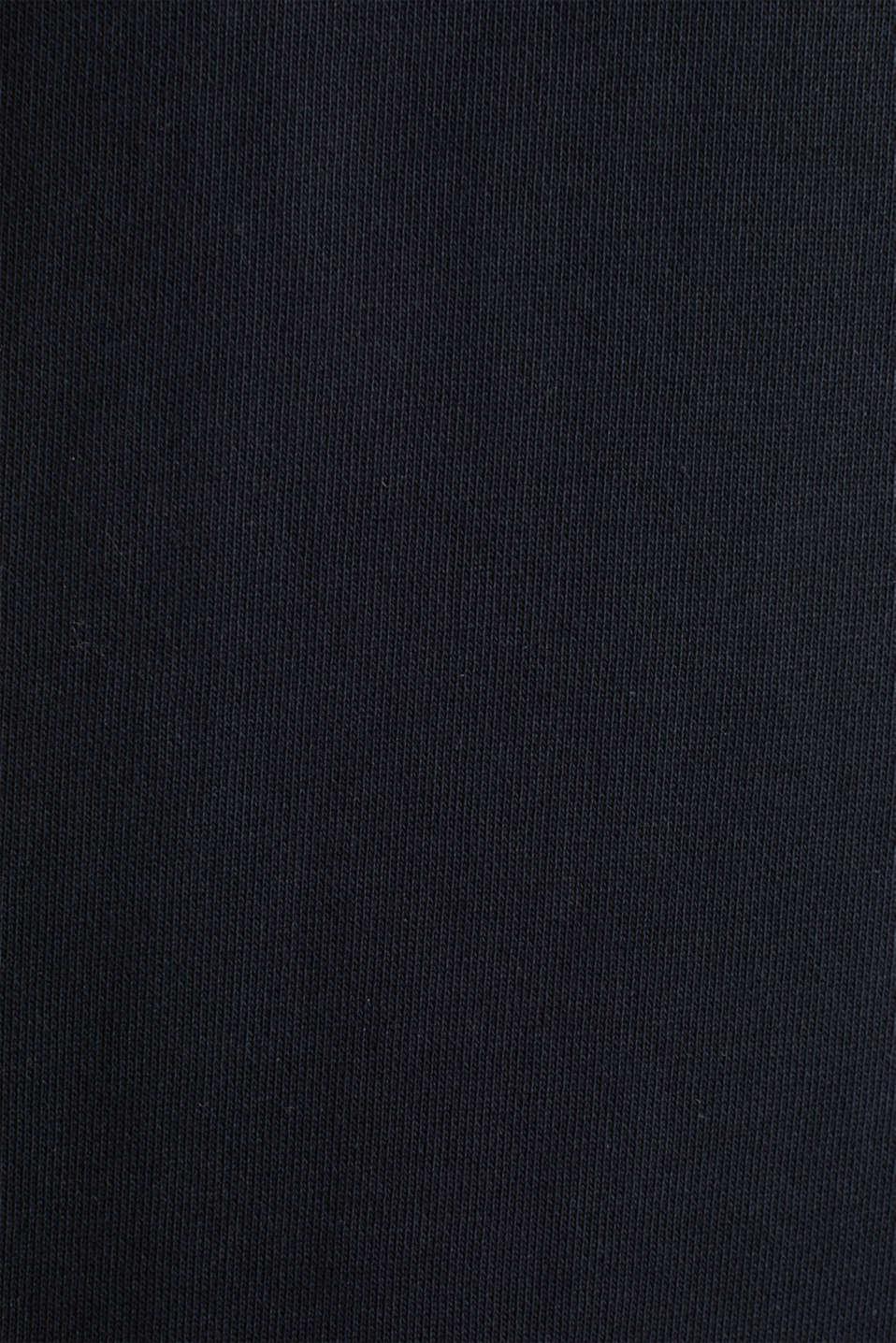 Short sleeve hoodie in 100% cotton, BLACK, detail image number 4