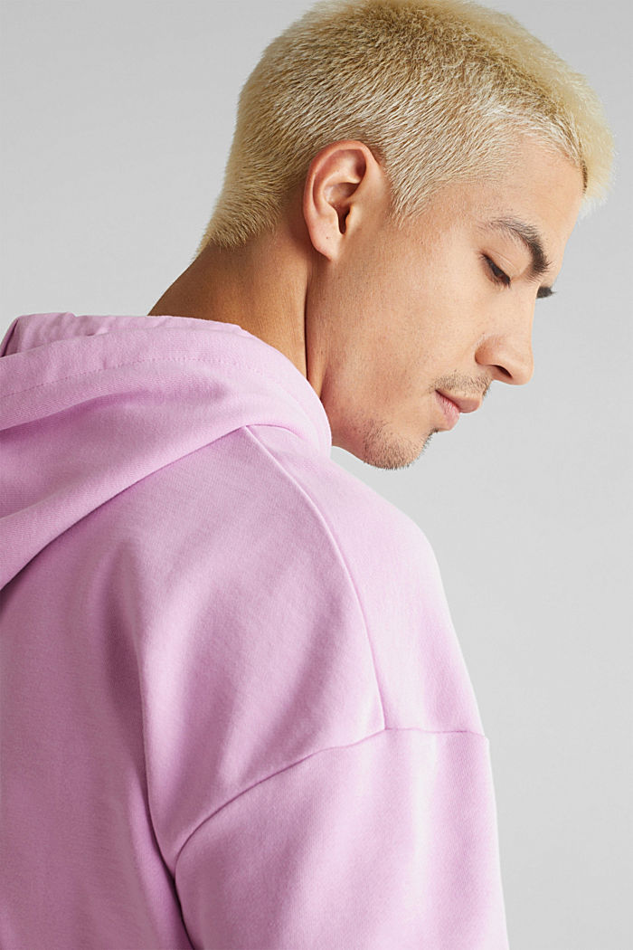 Short sleeve hoodie in 100% cotton, LILAC, detail image number 2