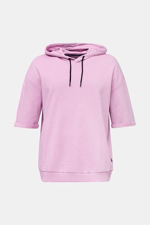 Short sleeve hoodie in 100% cotton