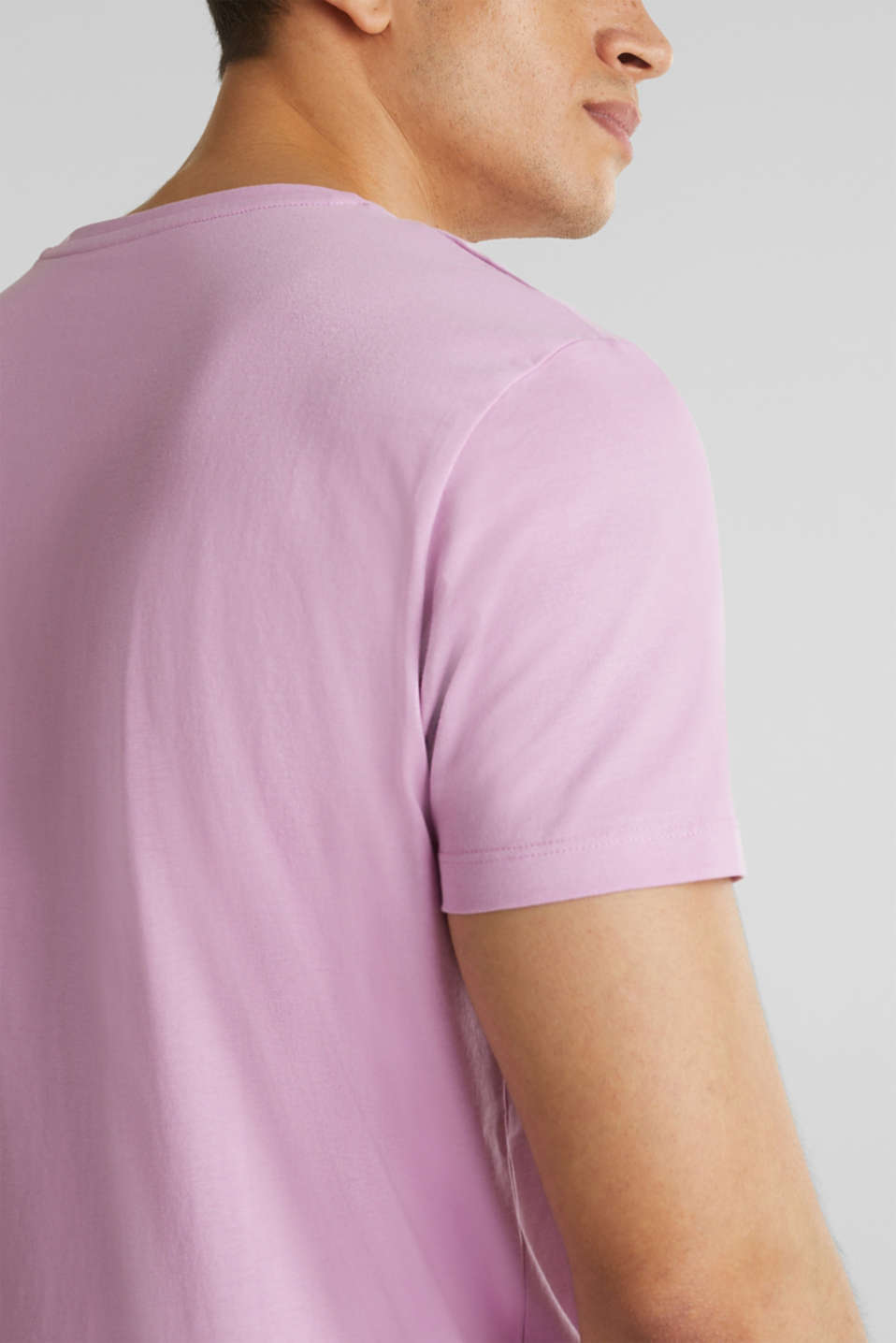 Jersey T-shirt in 100% cotton, LILAC, detail image number 1