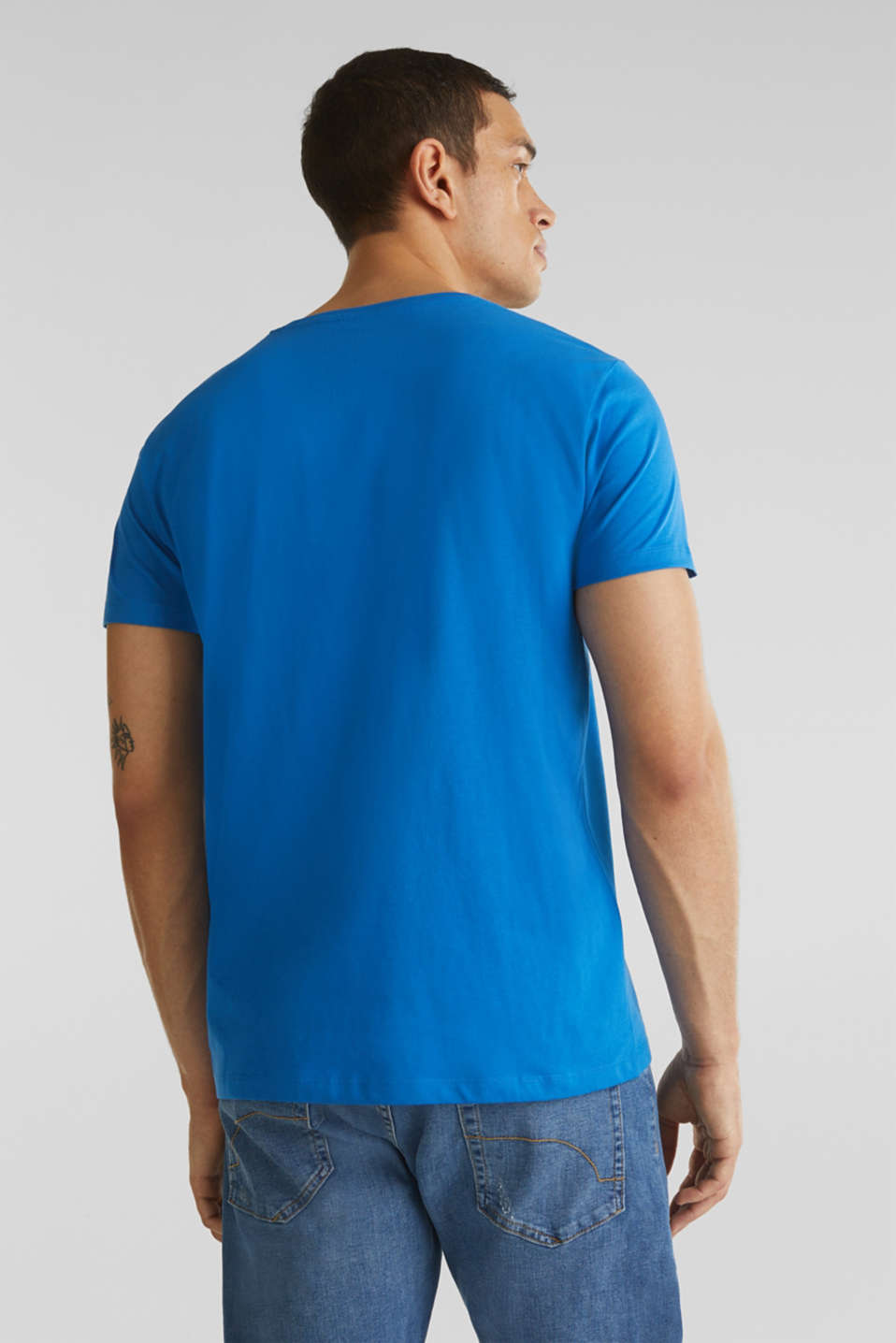 Jersey T-shirt in 100% cotton, BLUE, detail image number 3