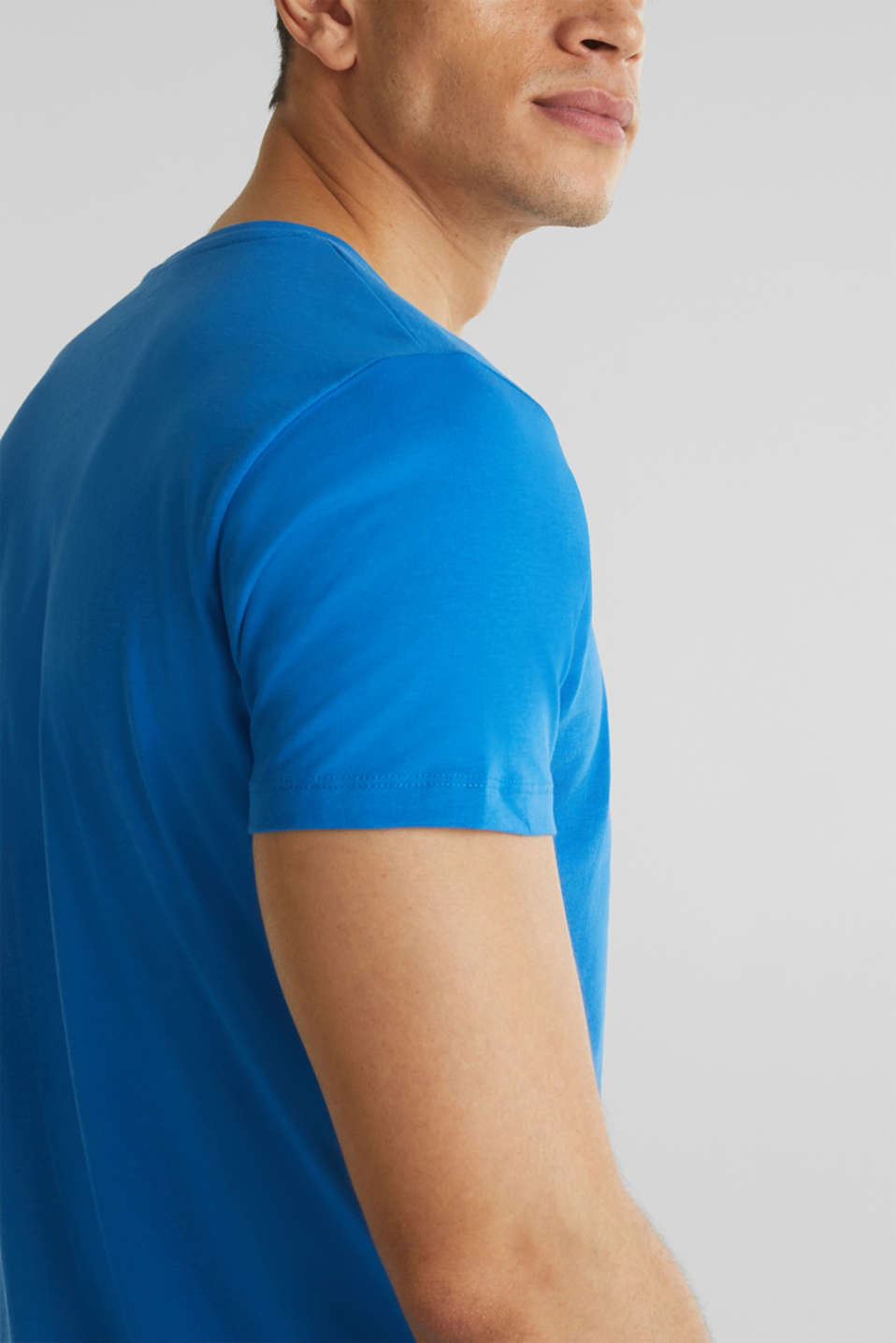 Jersey T-shirt in 100% cotton, BLUE, detail image number 1