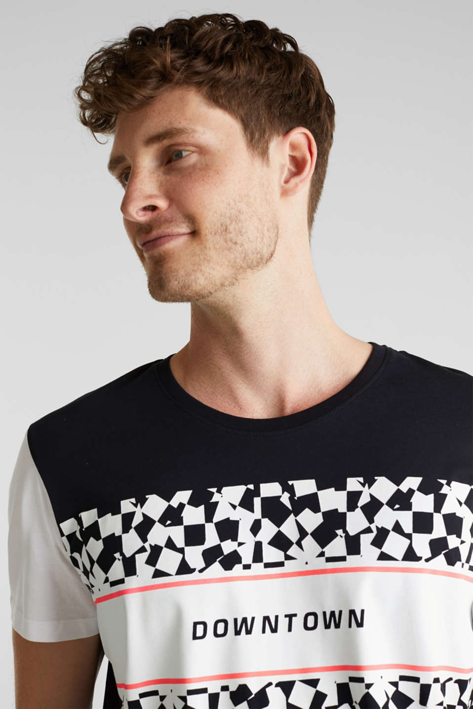 Jersey T-shirt with an on-trend print, 100% cotton, BLACK, detail image number 5