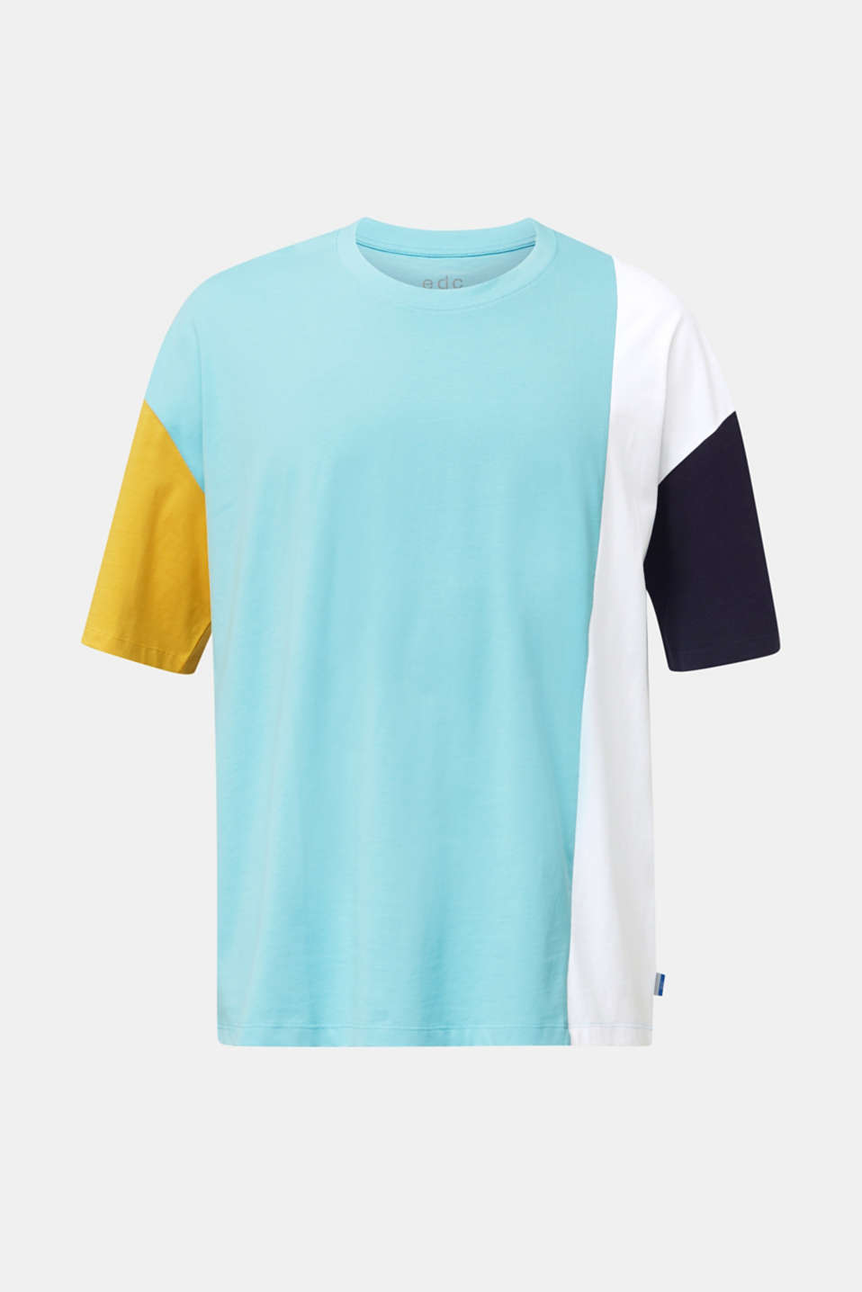Jersey T-shirt with colour block elements, LIGHT BLUE 2, detail image number 7