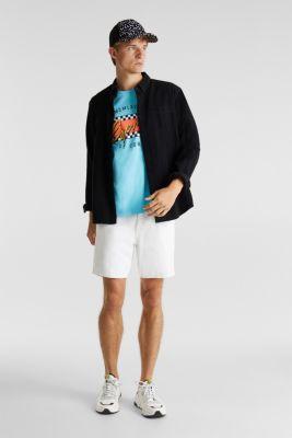 Jersey T-shirt in 100% cotton, LIGHT BLUE, detail