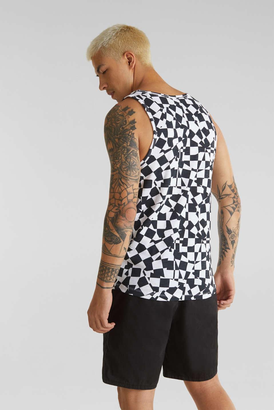 Slub jersey sleeveless top made of 100% cotton, WHITE, detail image number 3