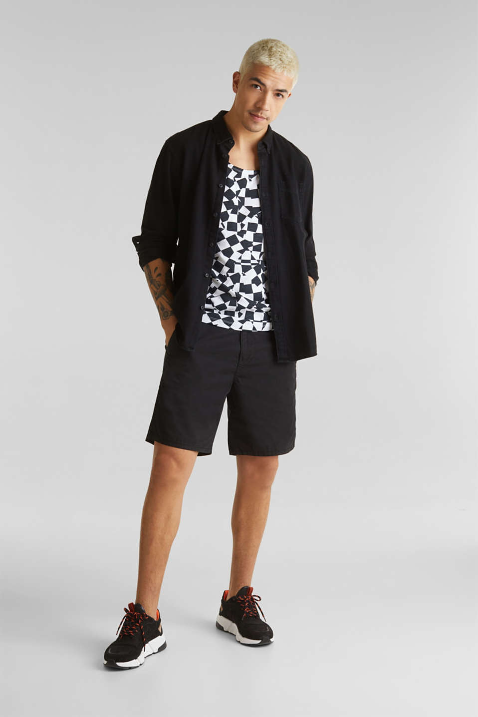 Slub jersey sleeveless top made of 100% cotton, WHITE, detail image number 2