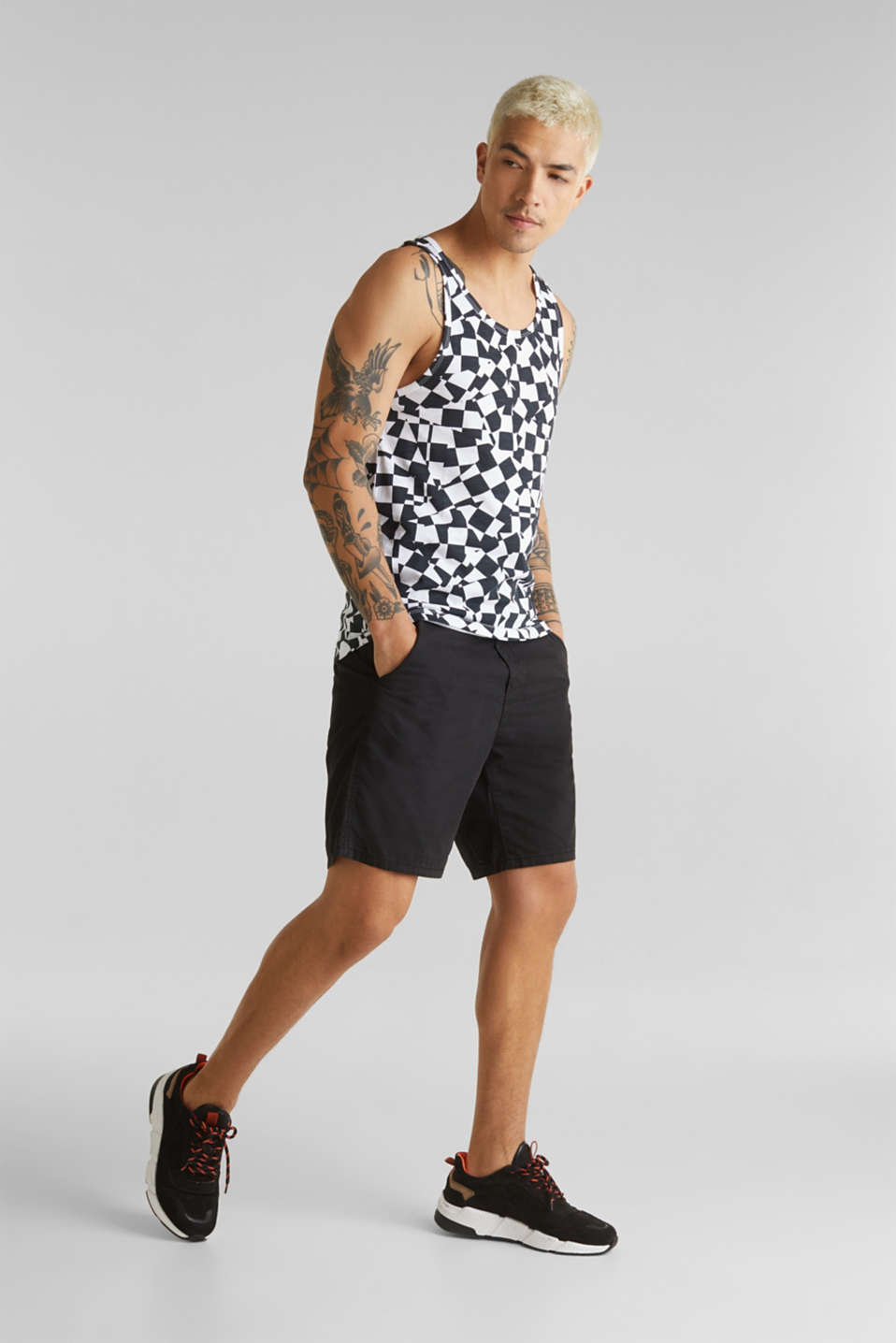 Slub jersey sleeveless top made of 100% cotton, WHITE, detail image number 6