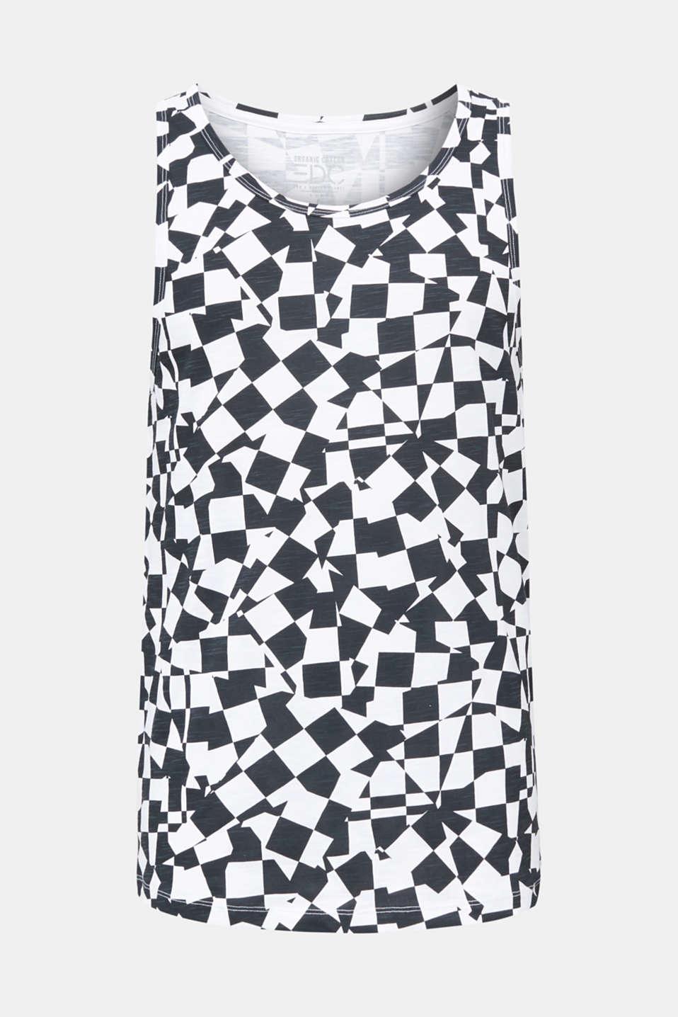Slub jersey sleeveless top made of 100% cotton, WHITE, detail image number 7