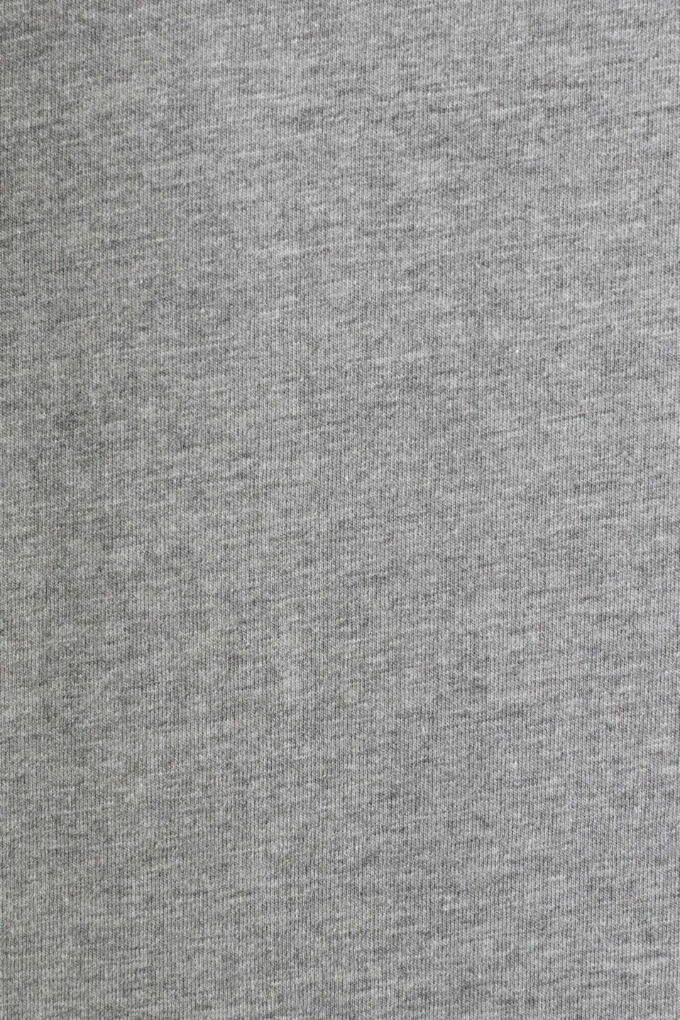 Jersey sleeveless top with a logo print, MEDIUM GREY 5, detail image number 4