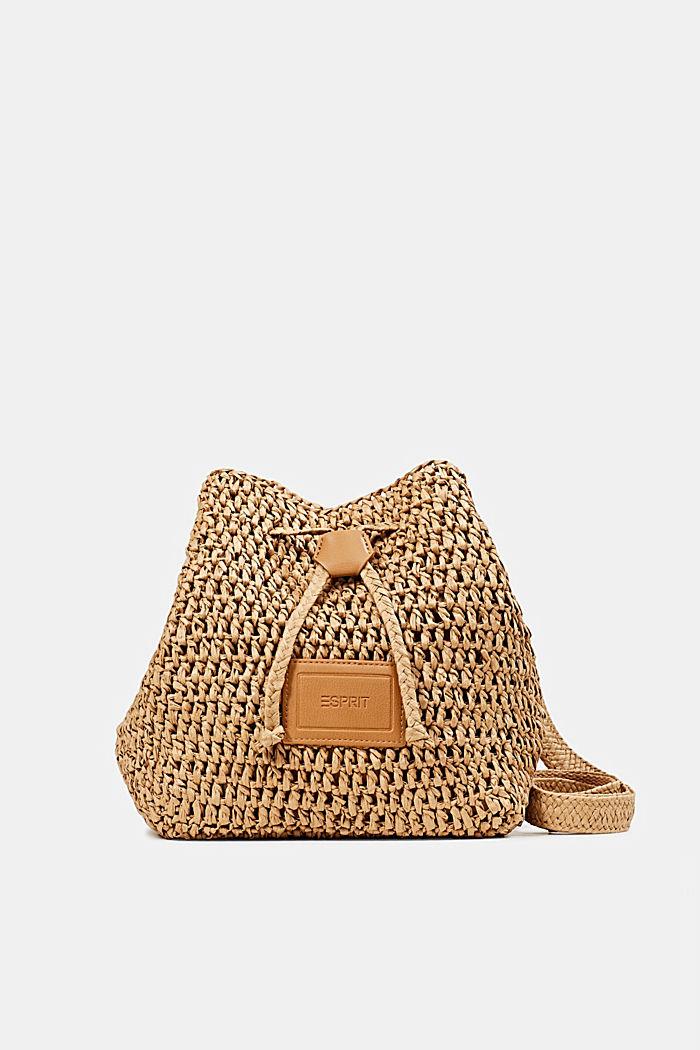 Handgearbeitete Bucket Bag aus Bast, CAMEL, detail image number 0