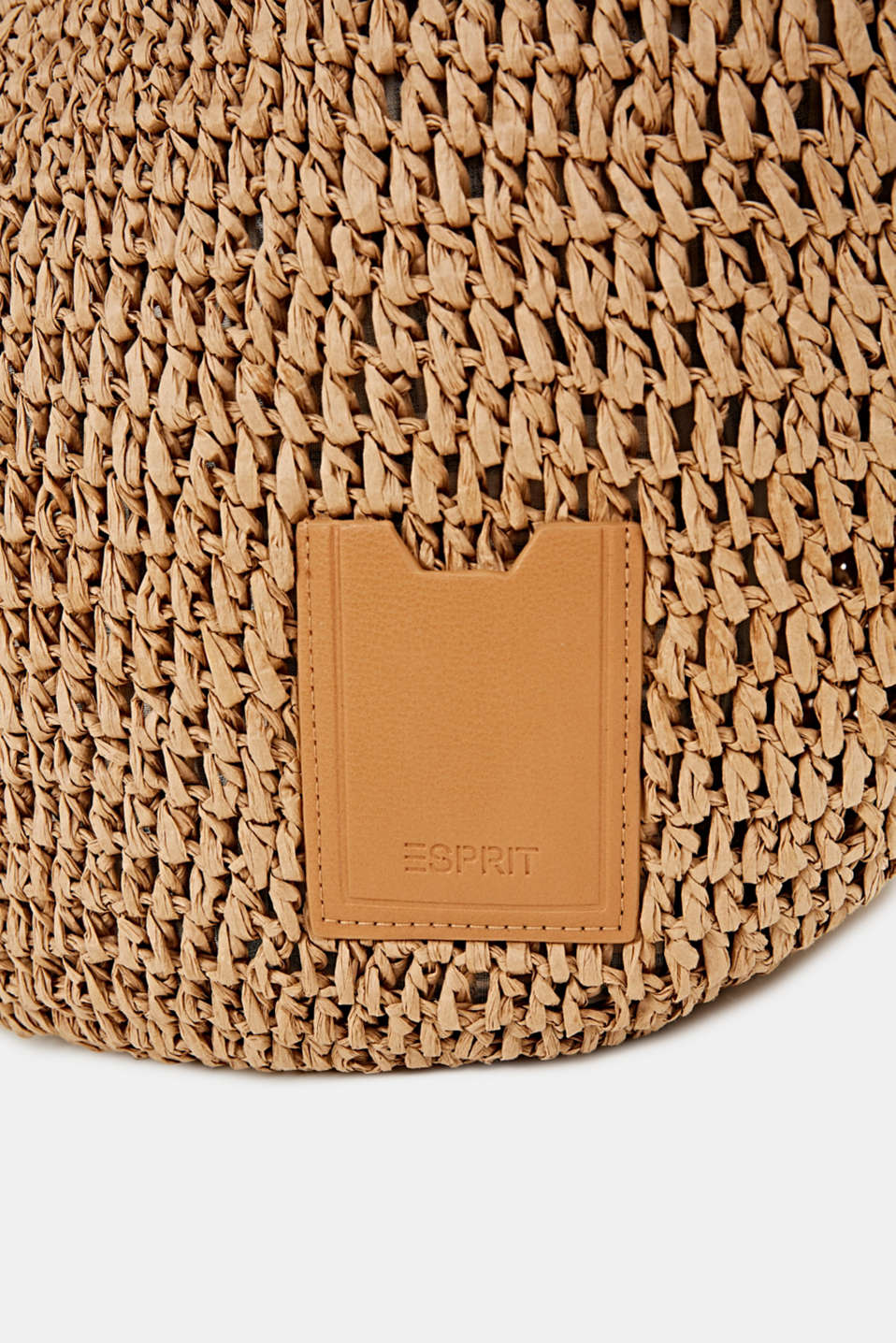 Hand-crafted bast shopper, CAMEL, detail image number 4