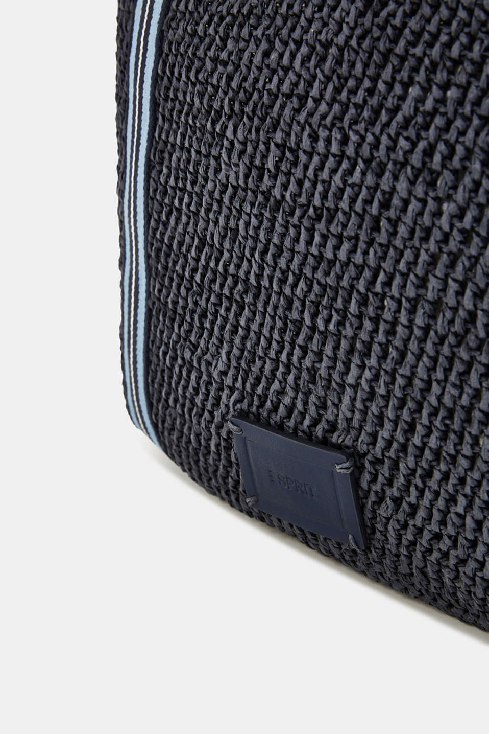 Hand-crafted bast shopper, NAVY, detail image number 5