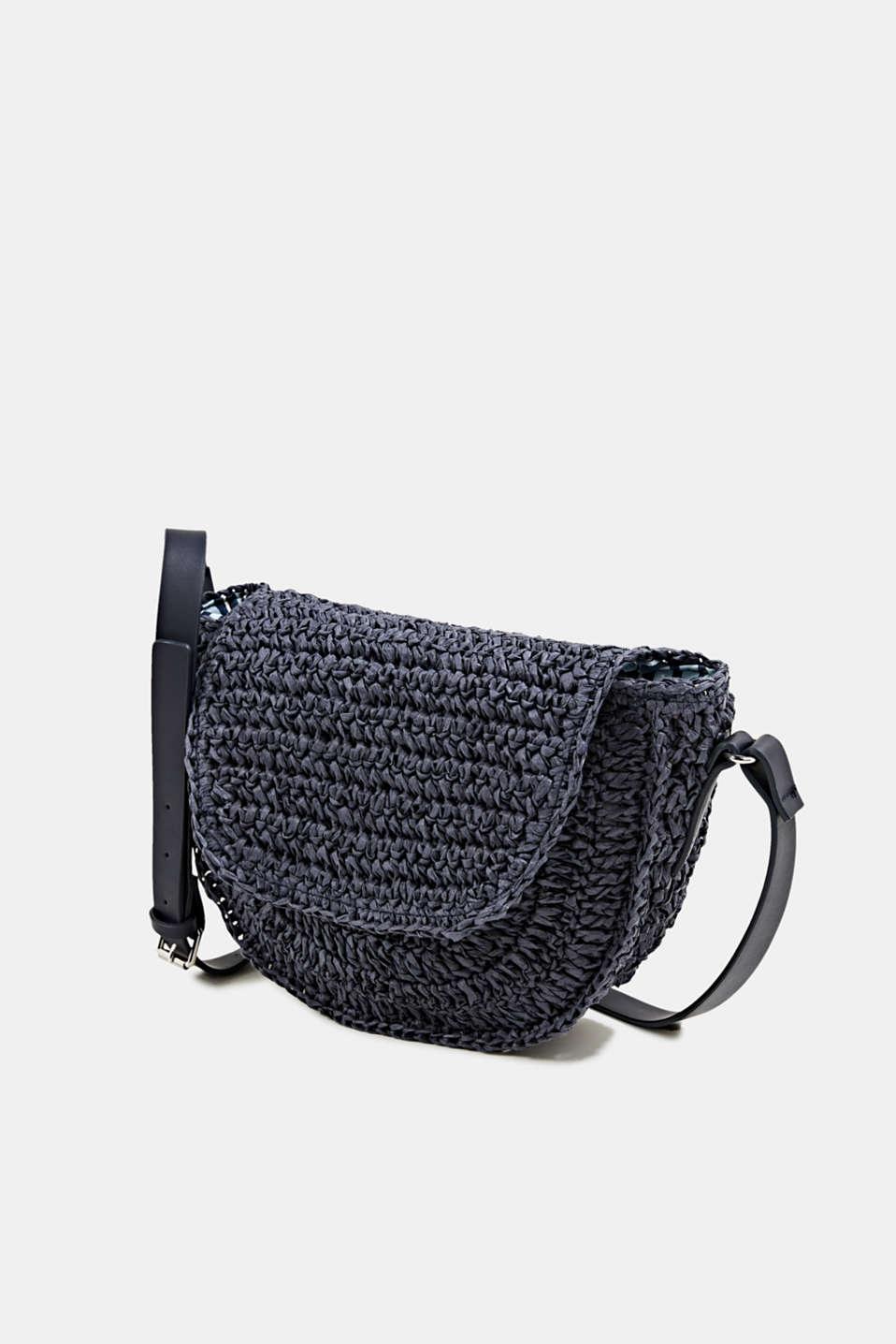 Shoulder bag made of braided bast, NAVY, detail image number 2