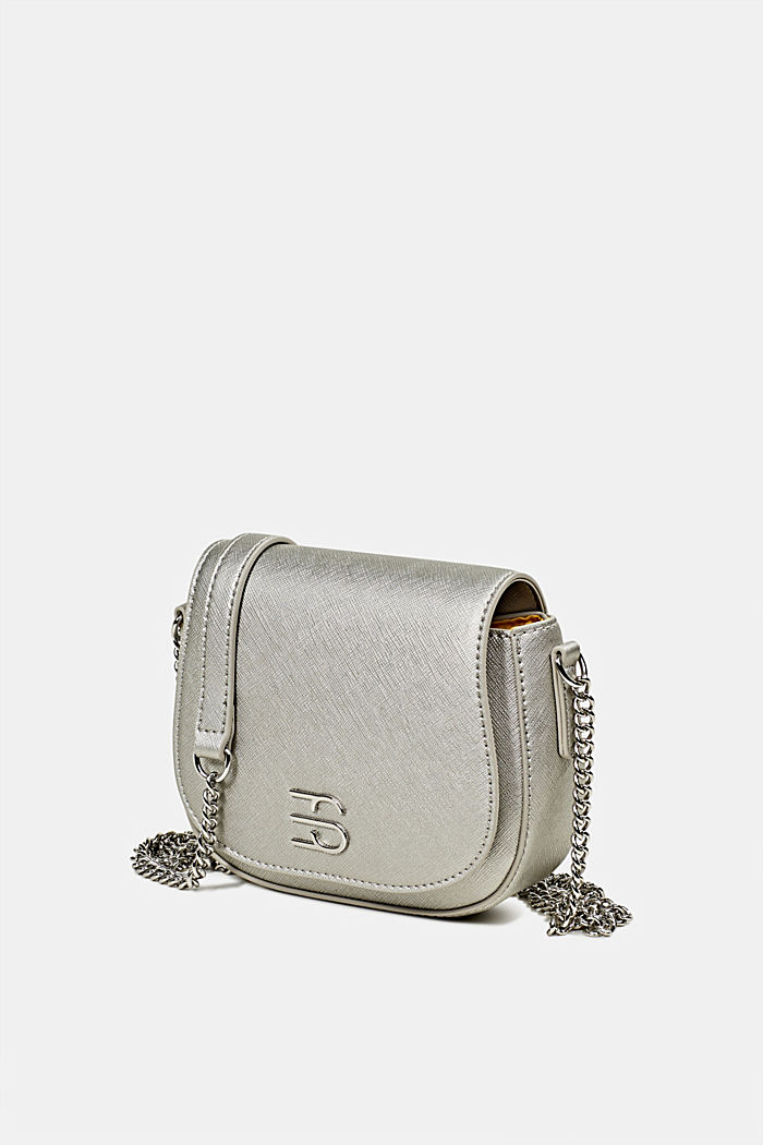 Vegan bag with shoulder chain, SILVER, detail image number 2