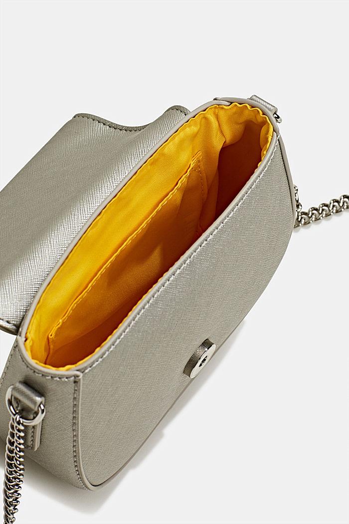 Vegane Tasche mit Schulterkette, SILVER, detail image number 4