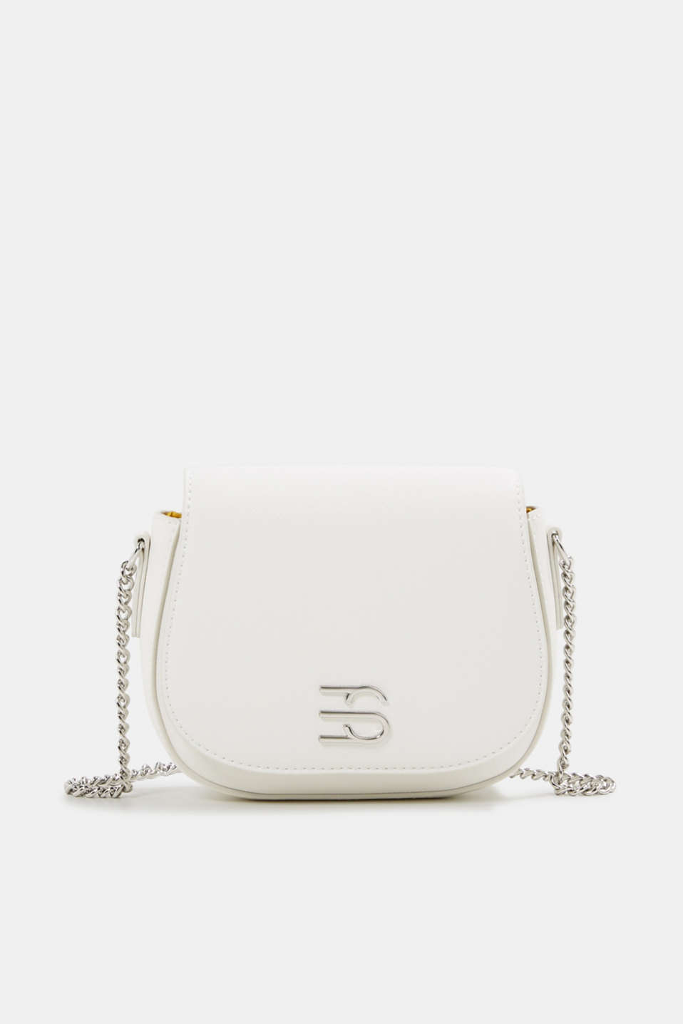 Vegan bag with shoulder chain, WHITE, detail image number 0
