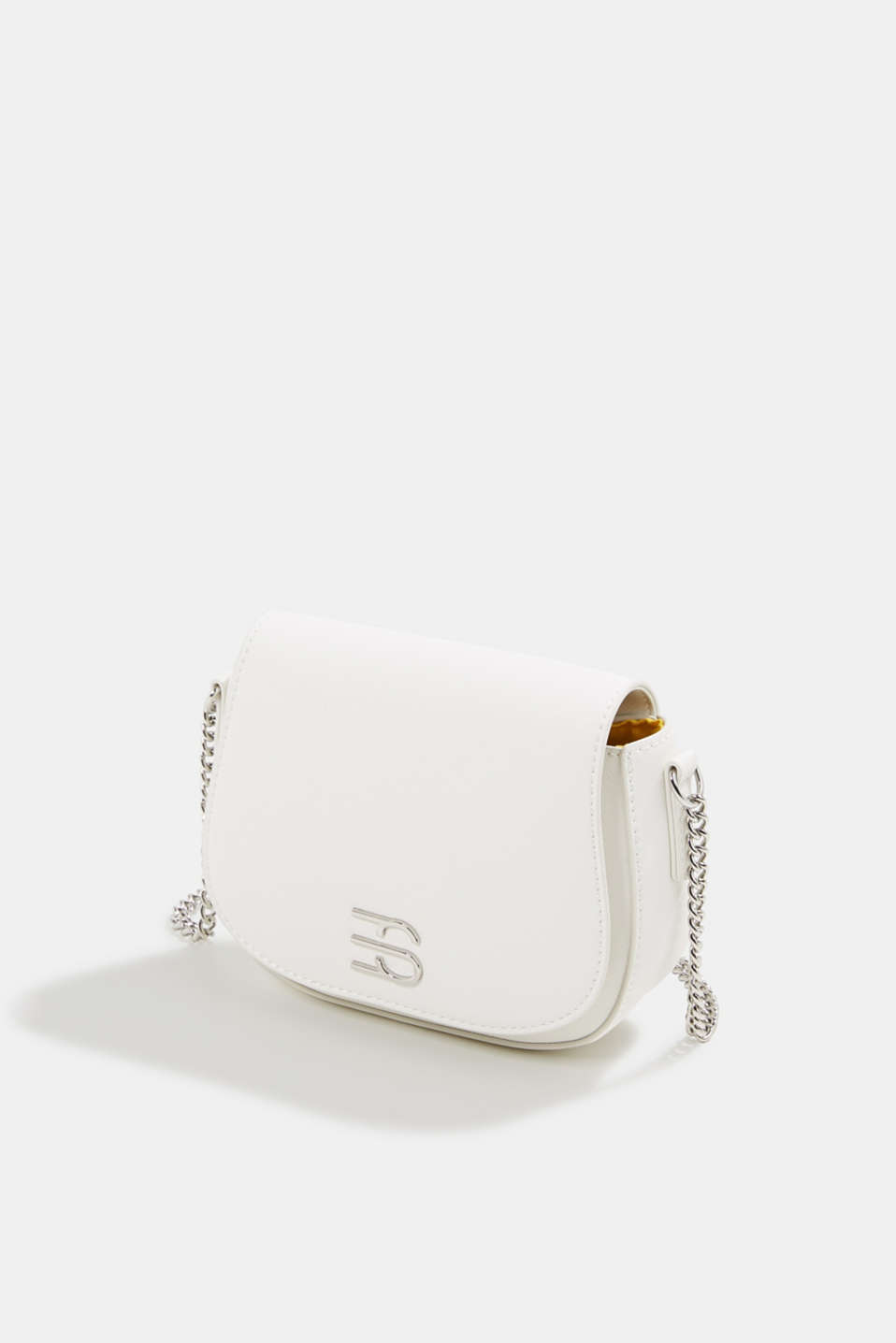 Vegan bag with shoulder chain, WHITE, detail image number 2