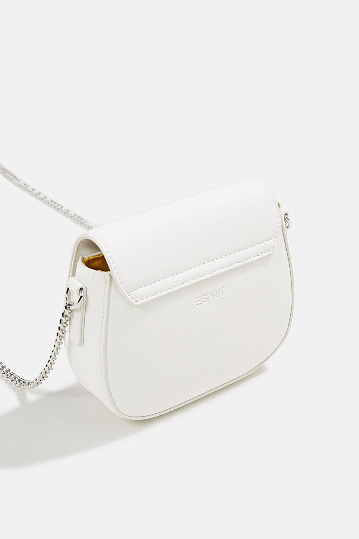 Vegaaninen laukku, jossa olkaketju, WHITE, detail image number 5