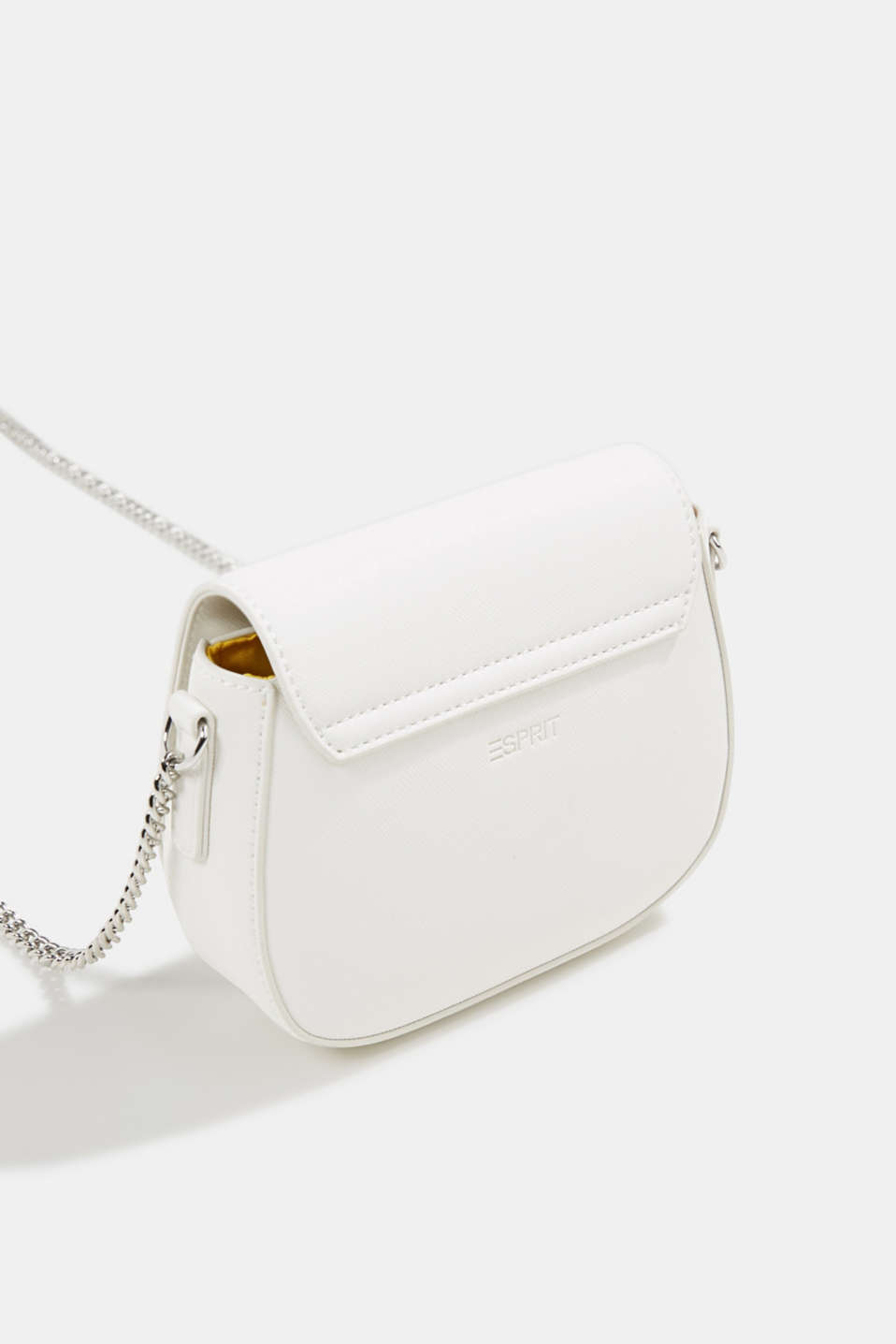 Vegan bag with shoulder chain, WHITE, detail image number 5